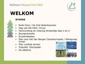 presentatie van het Wijkteam 2012 bewonersavond