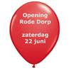 Feestelijke opening Rode Dorp zaterdagmiddag 22 juni