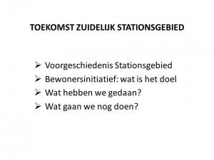 Zuidelijk Stationsgebied Nieuwe Park bewonersavond