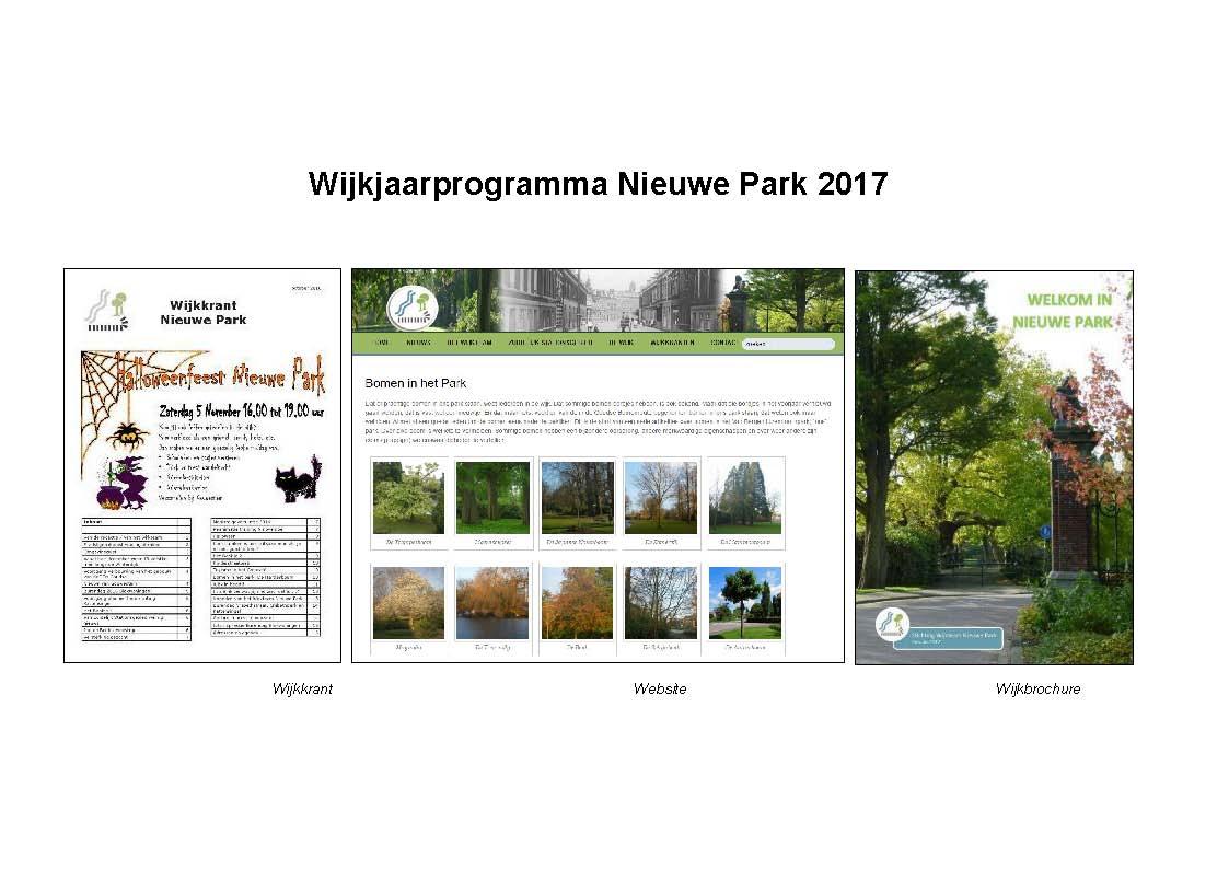 Wijkjaarprogramma 2017