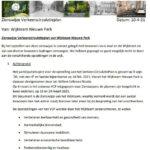 zienswijze wijkteam Nieuwe Park